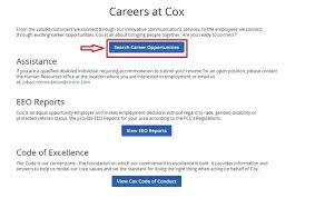 Submit Your Resume Online by How To Apply For Cox Jobs Online At Cox Com Careers