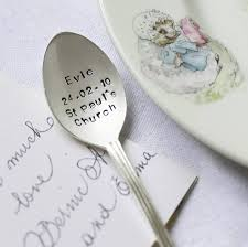 baby silver gifts personalised silver plated christening spoon by the cutlery