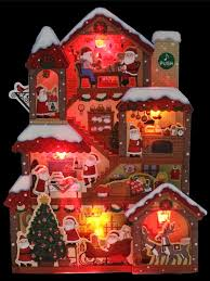 illuminated santa claus home lights and 20 melodies pop