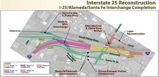 Denver Traffic Map I 25 And Santa Fe Drive U2014