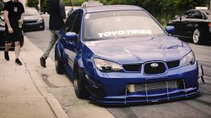 Pev Andrew U0027s Bagged Hawk Eye Sti Wagon Stance Youtube