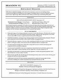 restaurant resume templates formatting education on resume fresh restaurant manager resume