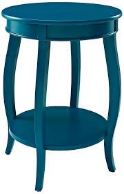 Round Coffee Table With Shelf Amazon Com Powell Furniture Round Table With Shelf White