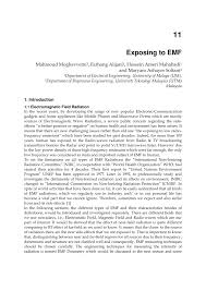 exposing to emf behaviour of electromagnetic waves in different