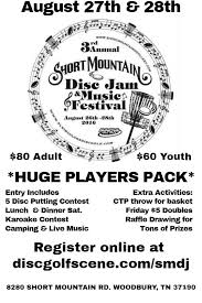 black friday disc golf 3rd annual short mountain disc jam presented by innova 2016