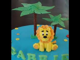 lion cake topper cake decorating tutorial how to make a fondant lion cake
