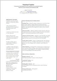 Teacher Cover Letter Sample Resume Cover Letter For Preschool Teacher Template