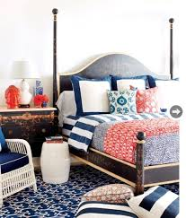 bedroom 2 red white and blue home decor and interiors decorating