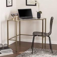 southern enterprises corner desk southern enterprises kalel metal glass corner desk brown glass