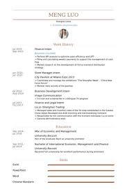 finance internship certificate sample management position resume