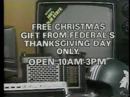 federals department store thanksgiving ad 1978