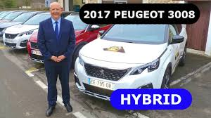 first peugeot 2017 peugeot 3008 hybrid first presentation youtube