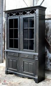 Black China Cabinet Hutch by French Provincial China Cabinet Makeover Charger China Cabinet