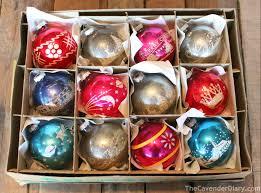 shiny brite glass tree ornaments lights