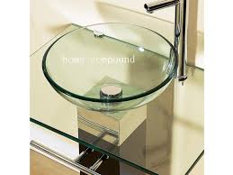 Bathroom Vessel Sink Vanity by Bathroom Sink Stylish Modern Bathroom Vanities Pedestal Glass