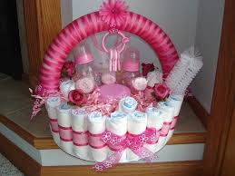 Home Made Baby Shower Decorations by Diaper Basket If Building A Cake Isn U0027t Your Thing Take Some