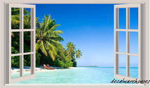 family rules wall sticker 302411908173 15 99 rageauthentic top tropical beach window view repositionable color wall sticker wall mural 3 ft