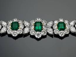 diamond emerald bracelet images Colombian emerald diamond bracelet 14 16 carats at 1stdibs jpeg