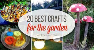Diy Craft Projects For The Yard And Garden - 20 best crafts for the garden one little project