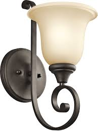 kichler 43170ni one light wall sconce bathroom sconces satin