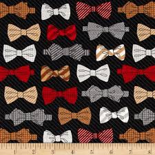 Houndstooth Home Decor by Fox And The Houndstooth Bowties Black Discount Designer Fabric