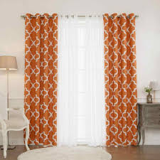 Burnt Orange Curtains Marvelous Curtains Panel And Striped Best Burnt Orange Of