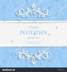 Invitation Card Background Design Vector Light Blue Floral 3d Christmas Stock Vector 271122530