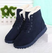 womens winter boots women boots snow warm winter boots lace up fur ankle boots