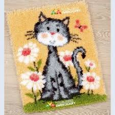 latch hook rug kits diy needlework unfinished crocheting rug yarn