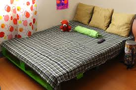Log Bed Pictures by How To Make A Pallet Bed Frame 6 Steps With Pictures Wikihow