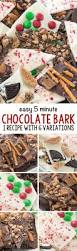 5 minute chocolate bark 6 ways crazy for crust