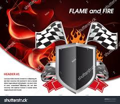 Images Of Racing Flags Racing Poster Flames Fire Racing Flag Stock Vector 81735505