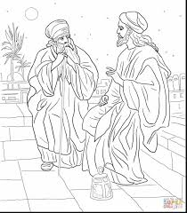 extraordinary jesus and nicodemus coloring page with zacchaeus