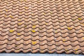S Tile Roof Stile Modern Tile Roof Uk Stock Photo Picture