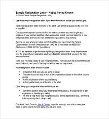why notice period is important resignation letter format with