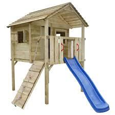 jeux en bois pour enfants la boutique en ligne vidaxl aire de jeux avec toboggan et échelle