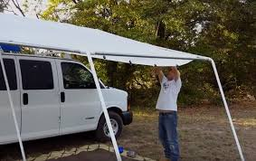 Camper Van Awnings Custom Canopy System For Stealth Camper Van