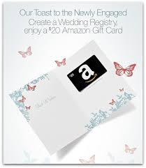 wedding registry deals free 20 gift card for creating wedding registry 10