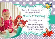 birthday party invitations sweet mermaid front daiquiri
