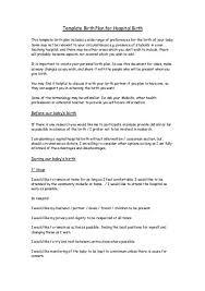 birth plan template for hospital births 28 images birth plan