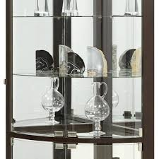 Discount Corner Curio Cabinet Amazon Com Pulaski Cannes Corner Curio Cabinet Sable Kitchen