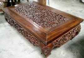hand carved coffee table innovative carved coffee table opium coffee table sold exotic home