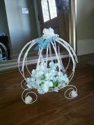Cinderella Wire Carriage Centerpieces by Cupcake Wedding Cakes Google Search Wedding Ideas Pinterest