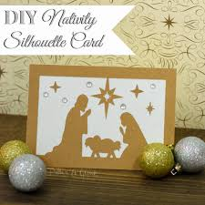xmas card baby jesus diy nativity silhouette christmas card from