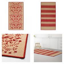 ikea vinter 2016 red striped tolle pattern rug area throw mat low