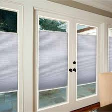 Magnetic Blinds For French Doors French Door Blackout Cellular Shade Blinds Com