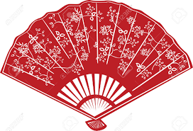 asian fan fan clipart