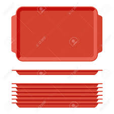 plateau de cuisine plateau de nourriture vide en plastique avec poignées salves