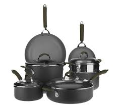 technique 11 pc hard anodized dishwasher safe cookware set w