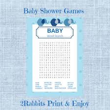 elephant boy baby shower word search game baby shower